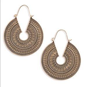 NWOT Engraved Hoop Earrings
